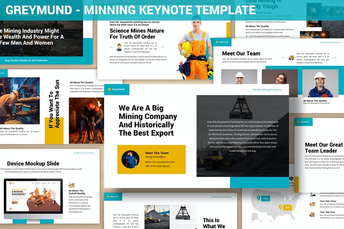 Greymund - Mining Keynote Template