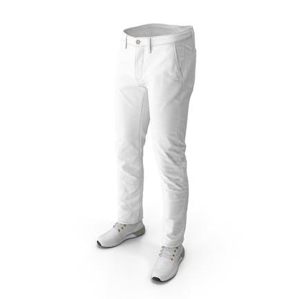 Herrenstiefel Pants Weiß