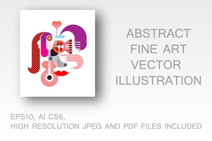 Thumbnail for Abstract Face vector illustration