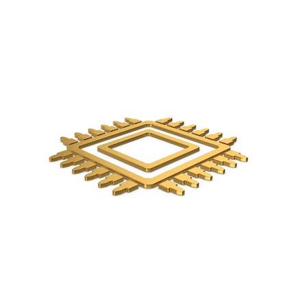 Gold Symbol Microchip