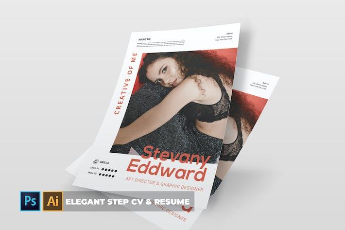 Thumbnail for Elegant Step | CV & Resume