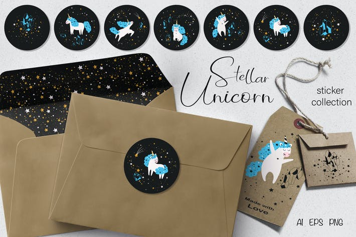 Thumbnail for Stellar Unicorn Stickers