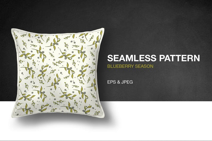 Thumbnail for Blueberry Season Seamless Pattern