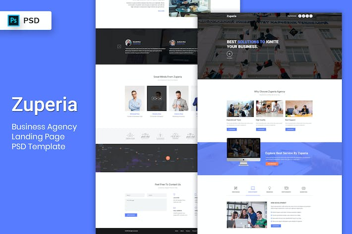 Thumbnail for Business Agency - Landing Page PSD Template