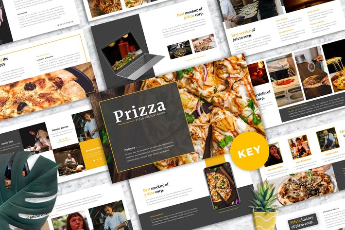 Thumbnail for Prizza – Pizza & Beverage Keynote Template