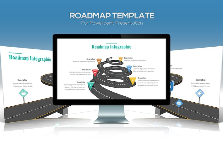 Thumbnail for Roadmap Template For Powerpoint Presentation