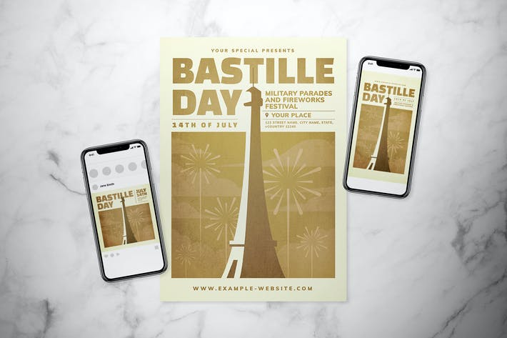 Thumbnail for Bastille Day Flyer Set