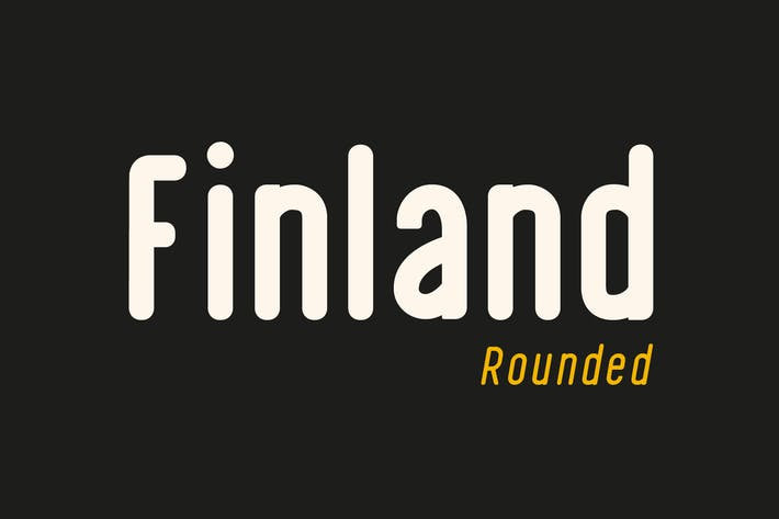 Thumbnail for Finland Rounded - Font Family