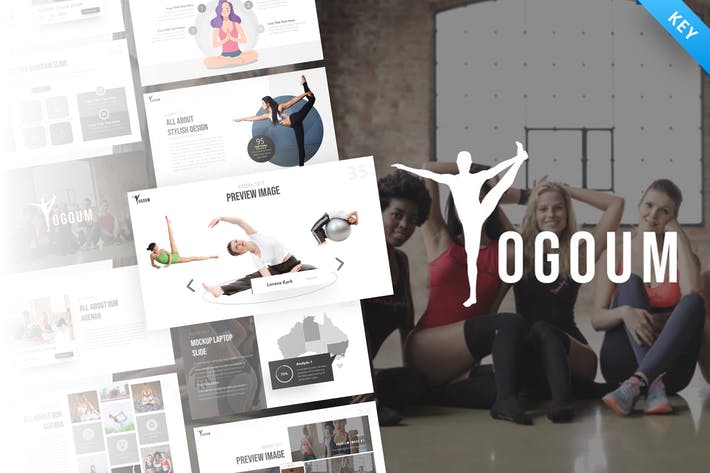 Thumbnail for Yogoum - Yoga & GYM Keynote Template