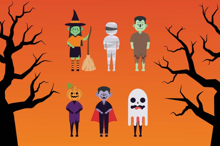 Thumbnail for Halloween - Illustration Character Set