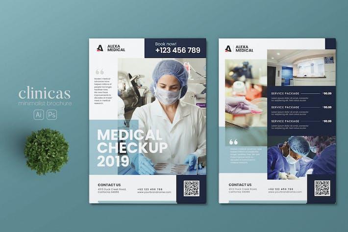 Thumbnail for Minimalist Medical Checkup AI and PSD Flyer