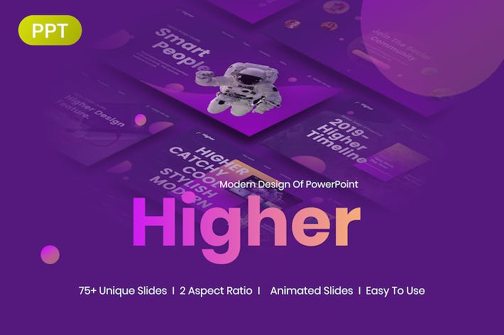 Thumbnail for Higher Creative Startup PowerPoint Template