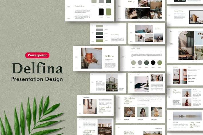 Thumbnail for Delfina - Руководство по продвижению торговых марок Шаблон Powerpoint