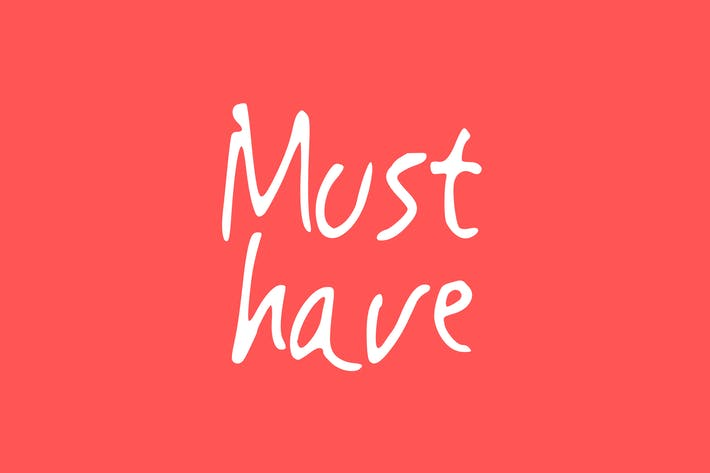 Cover Image For Must Have | Handwritting Font