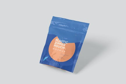 Plastic Zipper Packaging Pouch Mockups