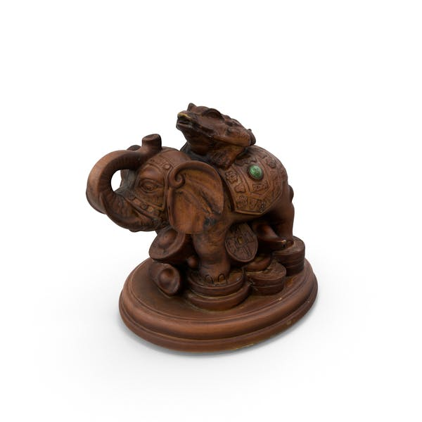 Elephant Brown Toy Statue