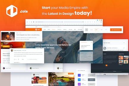 Zola Magazine News Website Template