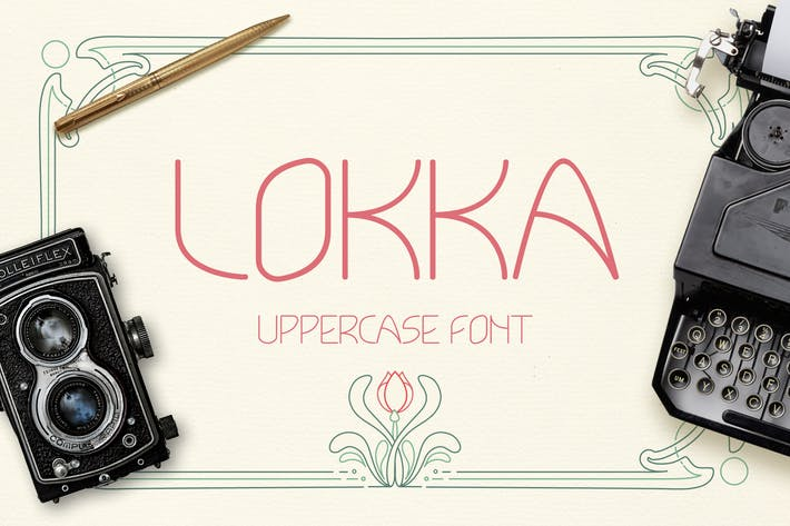 Thumbnail for Lokka Uppercase Font