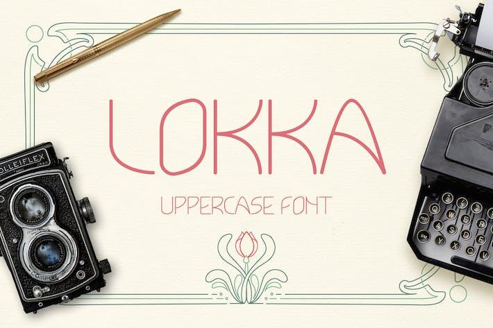 Tipo de letra mayúscula Lokka