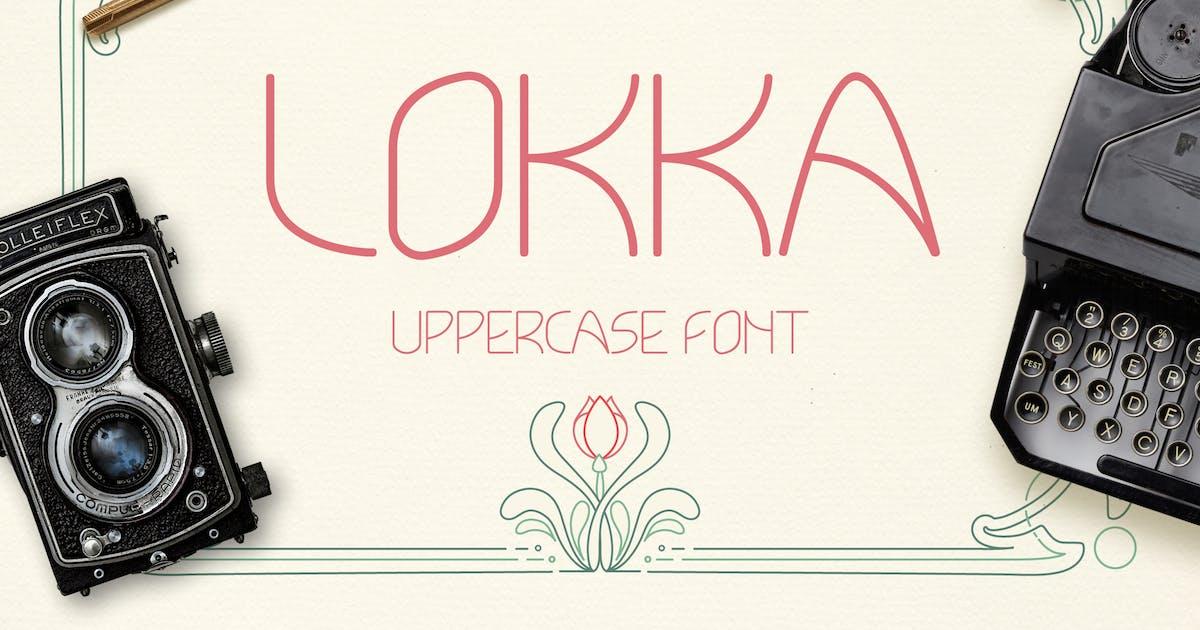 Lokka Uppercase Font by WildOnes