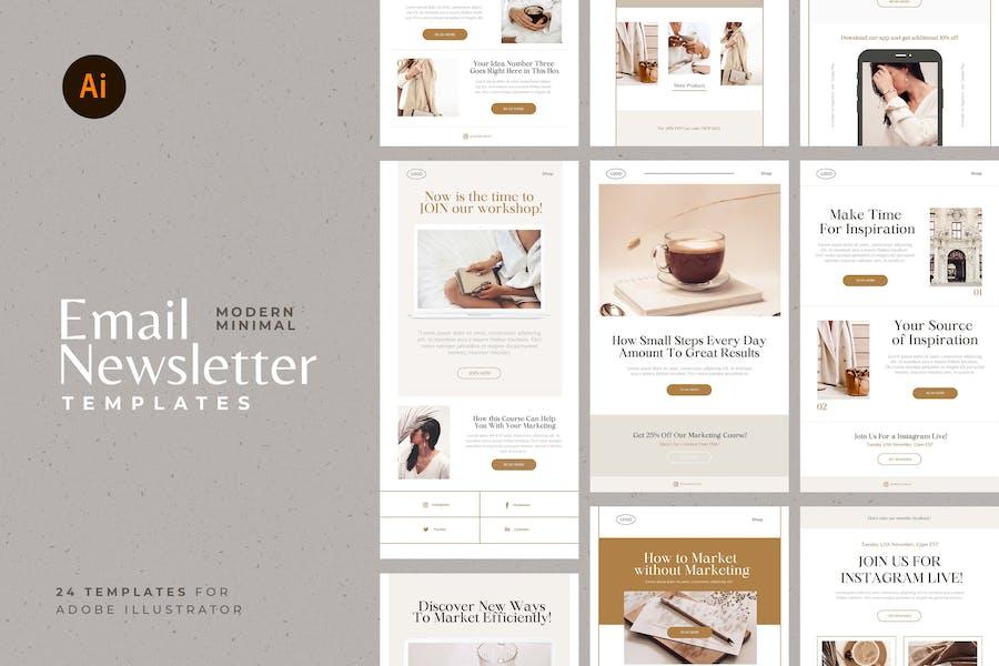 Elegant Newsletter Vector Templates