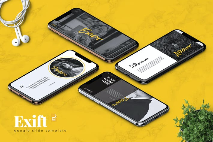 Cover Image For EXIFT - Creative Google Slides Template