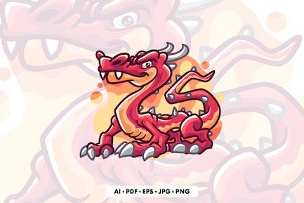 Dragons Cartoon Illustration