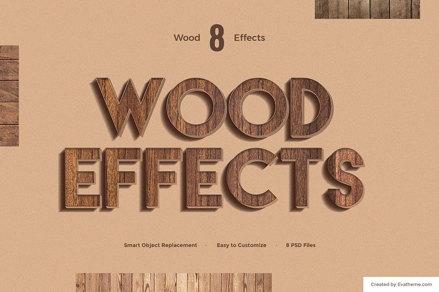8 Wood Text Effects