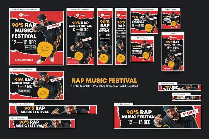 Annonce du festival de musique rap