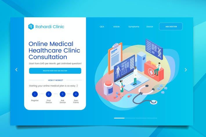 Thumbnail for Medical Web Header PSD And Vector Template Vol. 03