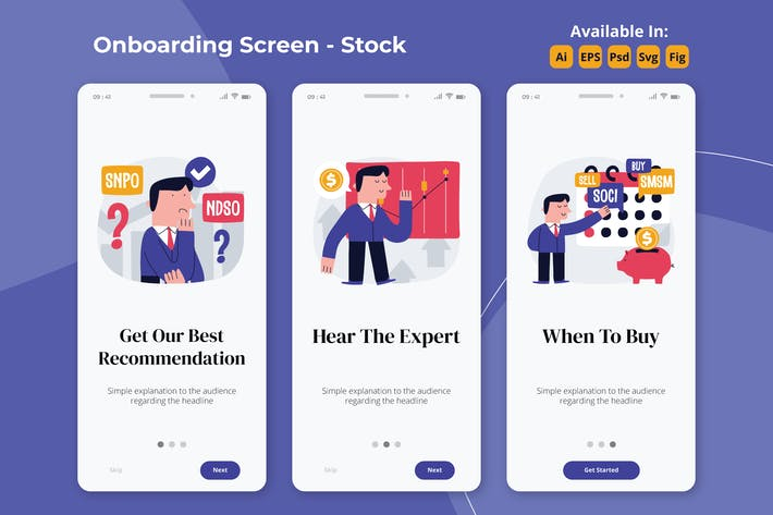 Thumbnail for Stock Market onboarding screen
