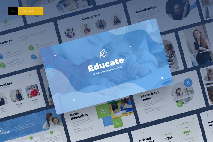Thumbnail for Educate - Education Google Slides Presentation