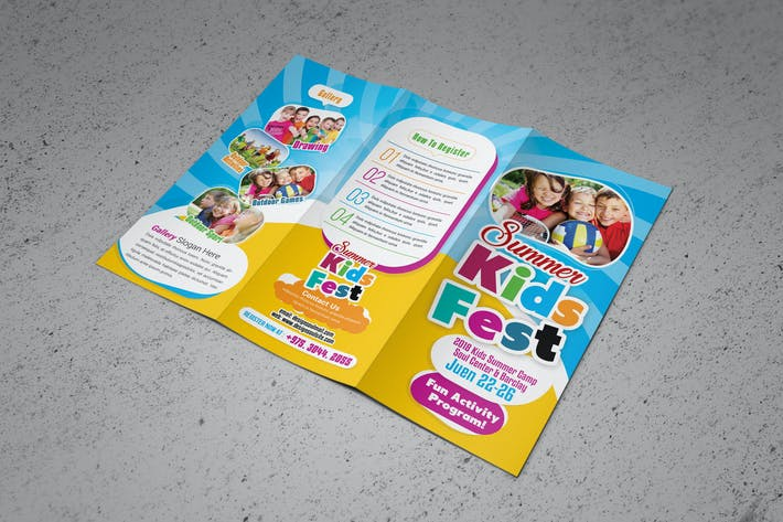 Thumbnail for kids summer camp Trifold Brochure