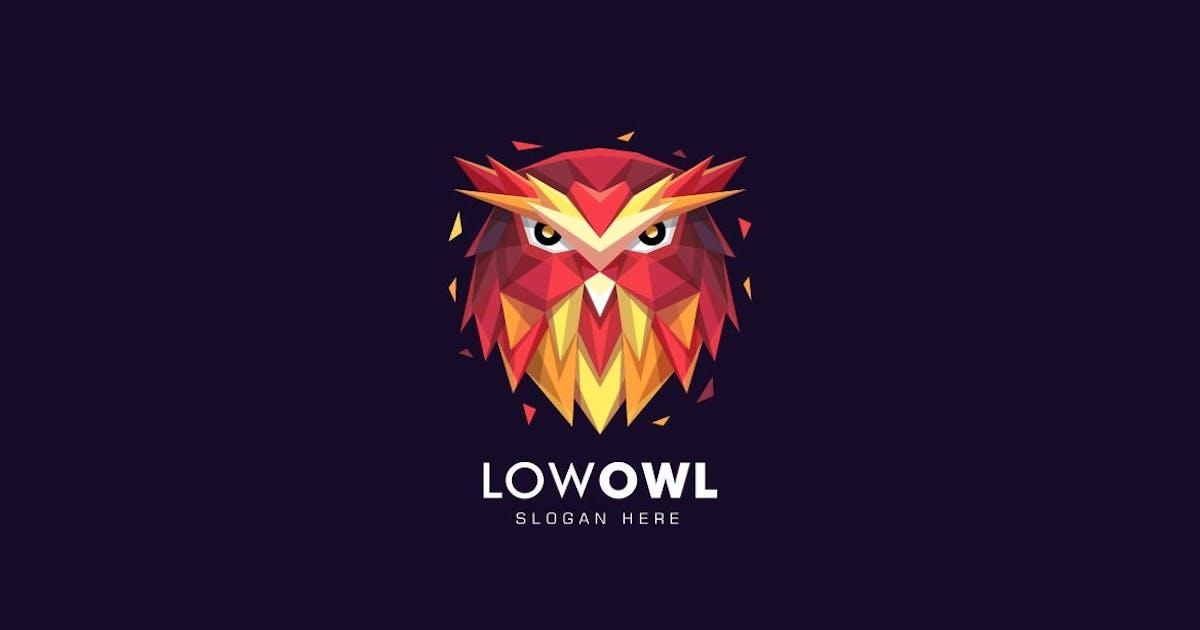 Download Owl Head Poly Colorful Logo by ivan_artnivora