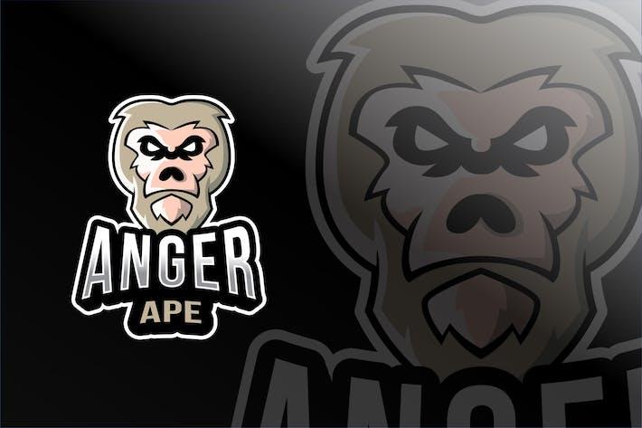 Thumbnail for Anger Ape Esport Logo Template