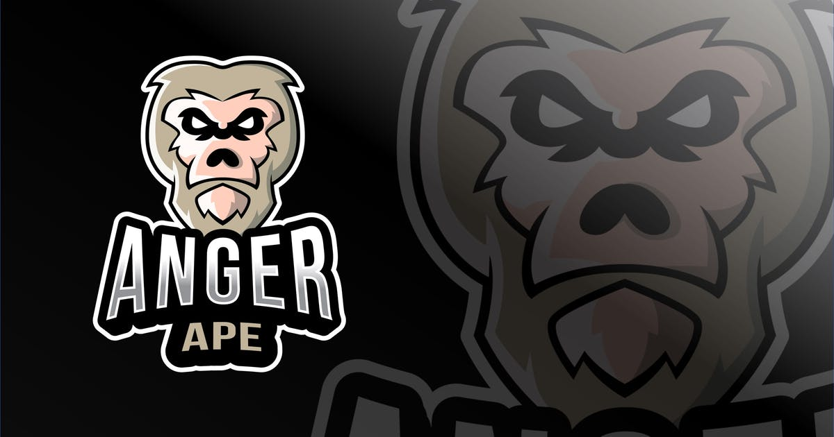 Download Anger Ape Esport Logo Template by IanMikraz