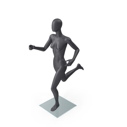 Female Mannequin Grey Running Pose