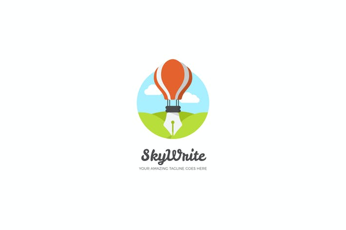 Cover Image For Sky Write Logo Design