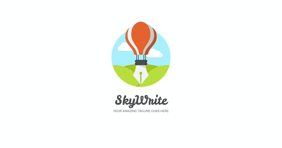 Download Sky Write Logo Design by EightonesixStudios