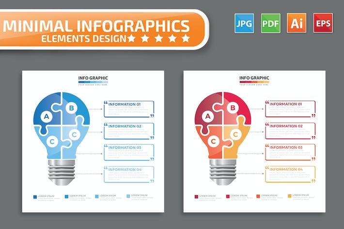 Thumbnail for Lightbulb infographic Design