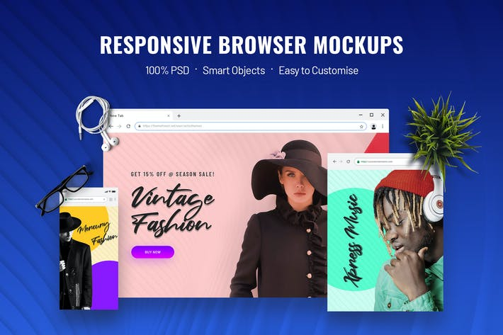 Thumbnail for Responsive Screen Mockup