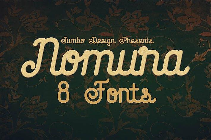 Thumbnail for Nomura - Vintage Style Font