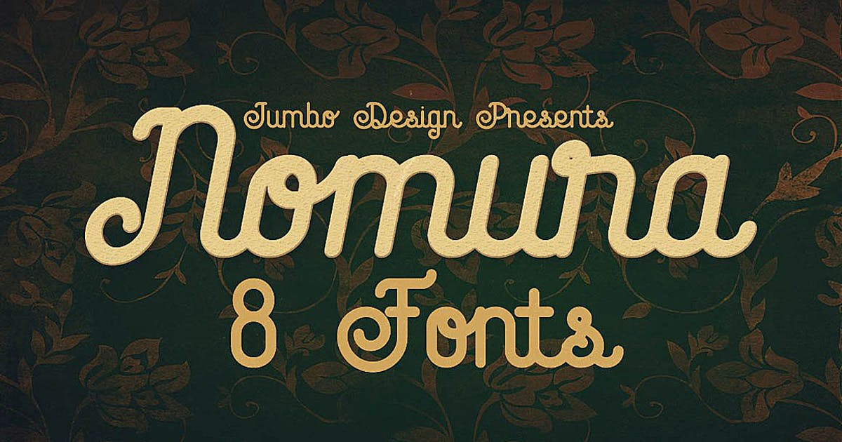 Download Nomura - Vintage Style Font by cruzine