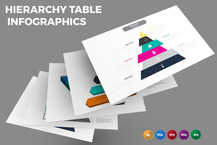Hierarchy Table – Infographics Design
