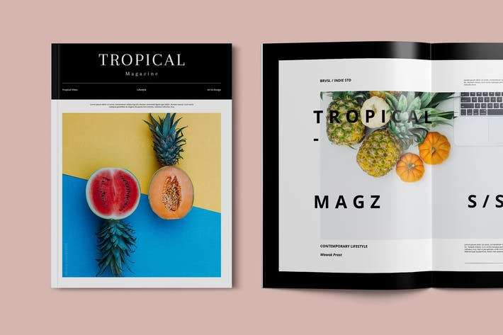 Tropical Magazine Template