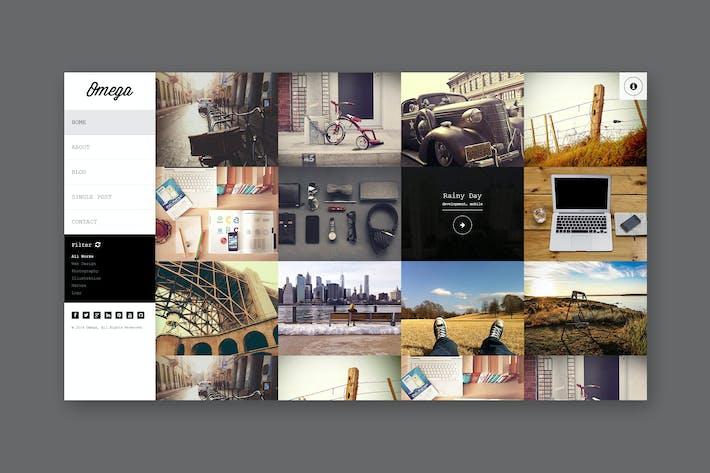 Thumbnail for Omega - Full Width HTML Portfolio