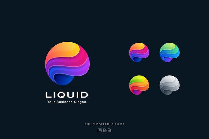 Thumbnail for Liquid Sphere Abstract Colorful Logo Template