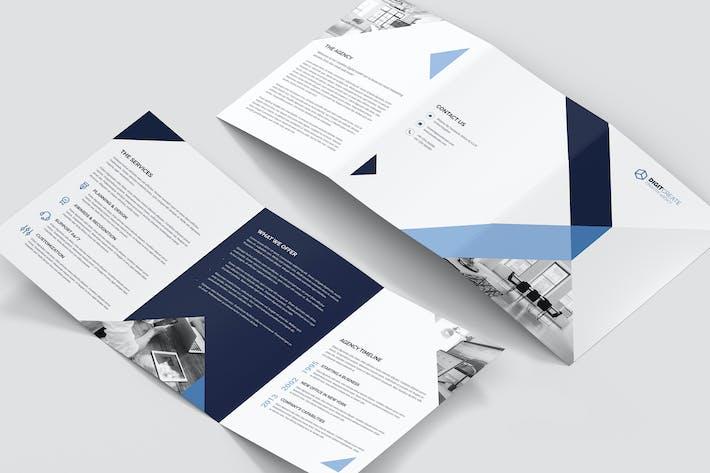 Thumbnail for Brochure – Digital Agency Tri-Fold A5