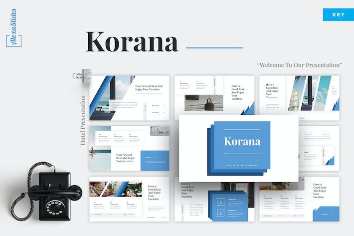 Thumbnail for Korana - Hotel Keynote Template