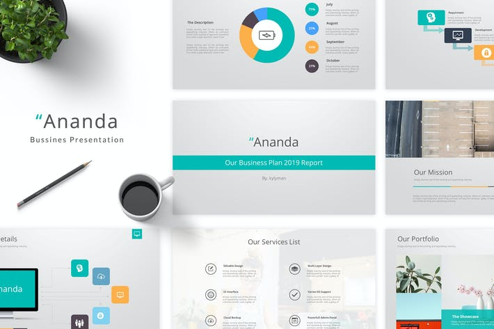 Thumbnail for Ananda - Business Keynote Template